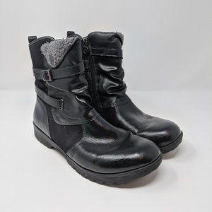JBU Vegan Leather Side Zip Ankle Boots Size 9